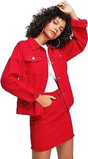 Floerns Women's Classic Button Up Denim Jean Jacket with Pockets