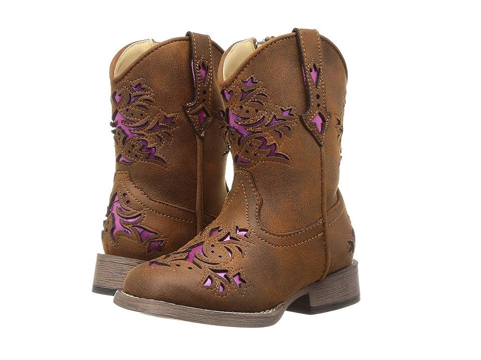 Roper Kids Lola (Toddler) (Vintage Brown Vamp & Shaft) Cowboy Boots