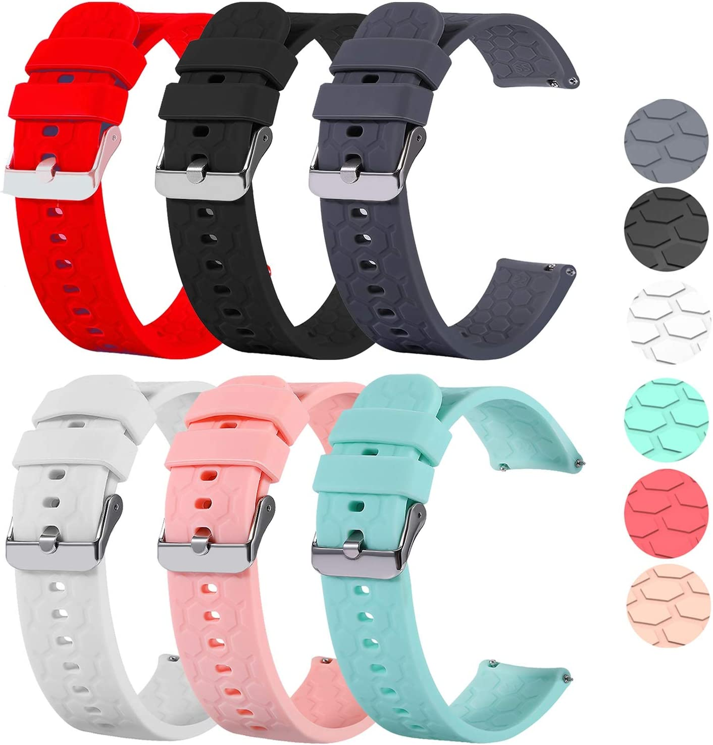 ECSEM Soft Silicone Smart Watch Replacement Popular standard Compati Limited price sale Bands Straps