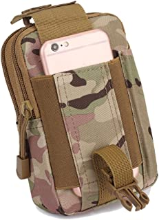 Multipurpose Tactical EDC Utility Gadget Pouch Molle Hip Waist Belt Bag Universal Cell Phone Holster Outdoor Military Wall...