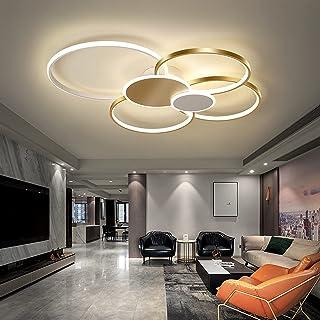Bellastein Lampe de Salon Plafonnier LED Dimmable avec Télécommande, Plafonnier LED Chambre Plafonnier Moderne Métal Acryl...