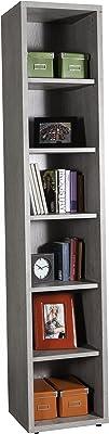 Salone-negozio-online Práctico Kit Libreria cm 35,7x 44x 217H de melamina Color hormigón