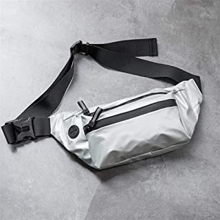YWSCXMY-AU Waterproof Man Waist Bag Fashion Chest Pack Outdoor Sports Crossbody Bag Casual Travel Male Bum Belt Bag (Color : Silver)
