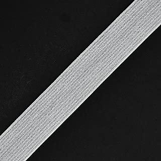 Trim 25mm (1'') Metallic SILVER Elastic Stretch Ribbon, Elastic Band by 2 yd, TR-11201