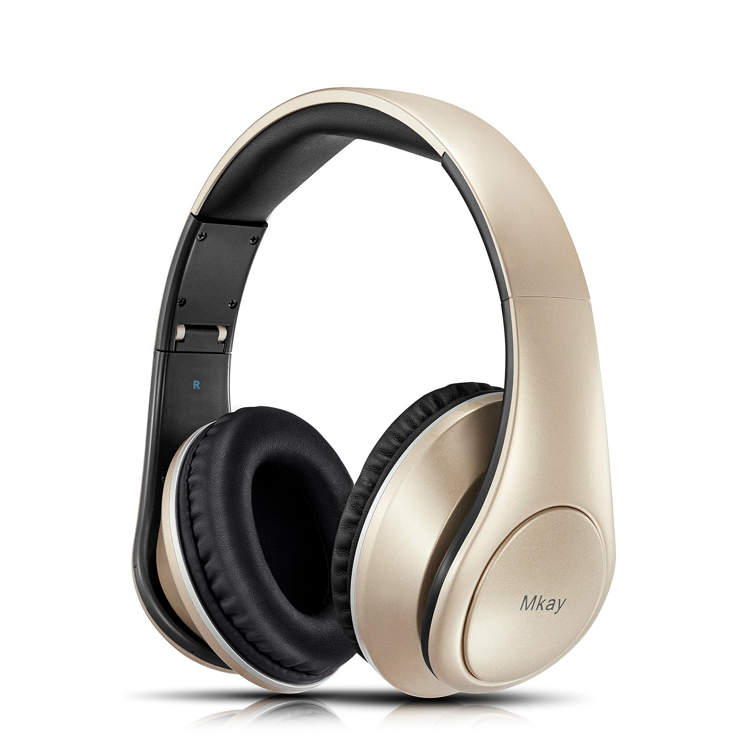 TF Card and FM Radio for Cellphones Laptop TV Rose Gold Bluetooth Headphones Over Ear Mkay Stereo Wireless Headset with Microphone