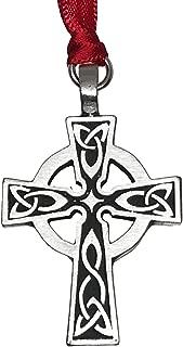 Pewter Celtic Cross Irish Scottish Wales Christmas Ornament and Holiday Decoration