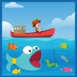 魚を捕る船