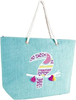 Tassle Detail Beach Bag with Rope Handles