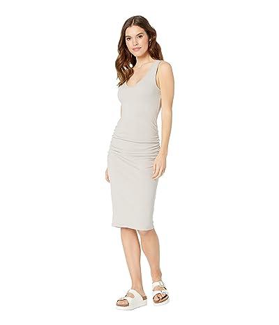 Michael Stars Cora Pebble Knit Sleeveless Ruched Dress (Castle) Women