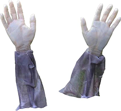 Scary Outdoor Halloween Decorations Haunted House Yard Supplies 4Es Novelty Halloween Zombie Hands /& Arms Lawn Stakes Halloween Graveyard Prop D/écor 1 Pair