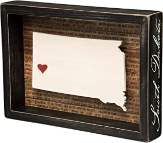 Primitives by Kathy 28245 State Pride Box Sign, South Dakota