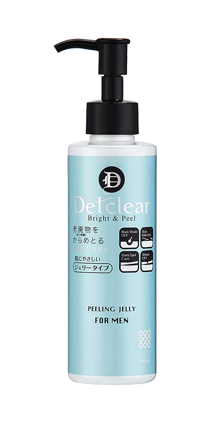 不健康地雷原ドループ明色化粧品 DETクリア ブライト&ピール ピーリングジェリー for MEN 180mL