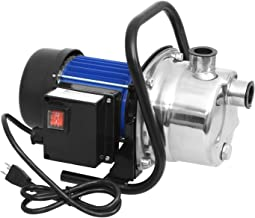 1.6HP Stainless Steel Water Pump Electric Transfer Pump Submersible Sump Pump Shallow Well Pump Home Garden Lawn Sprinkling Booster Pump (US Stock)