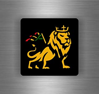 Akachafactory Selbstklebend Sticker Auto Rasta Reggae One Love Löwe Jamaikanische Flagge ref15