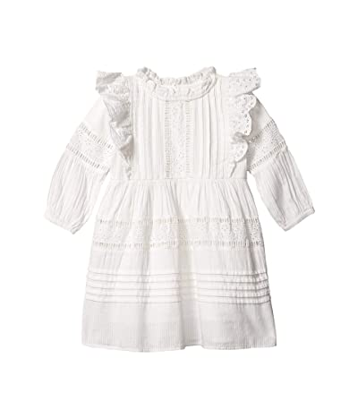COTTON ON Sasha Long Sleeve Dress (Little Kids) (White) Girl