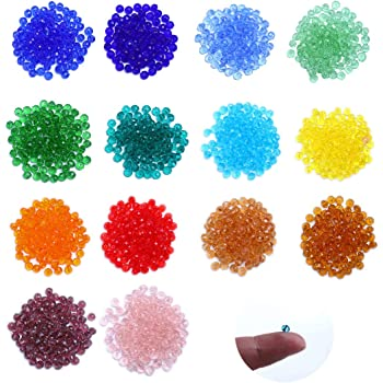 10 Colors 500 Pieces Rondelle Shape Beads Briolette Faceted Beads Crystal Glass Beads Crystal Beads for Jewellery Making BetterJonny 6mm Crystal Beads