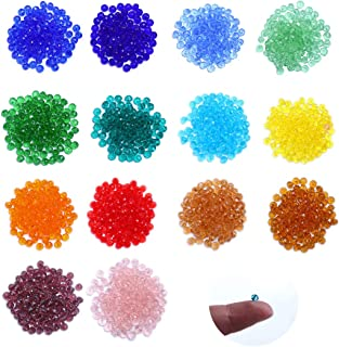 Crystalsuncatcher Lot 2000pcs 4mm Briolette Glass Rondelle Beads Crystal Faceted Beads Jewelry Making Supply for DIY Beadi...