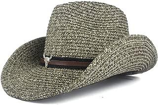 LiWen Zheng Unisex Paper Cowboy Hats Wide Brim Sun Protection Cap Men Women Beach Sunhat Sunshade Cap Jazz Straw Hat Sombrero