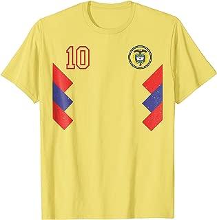 Retro Colombia Soccer Jersey Futbol T-Shirt 1990 2018