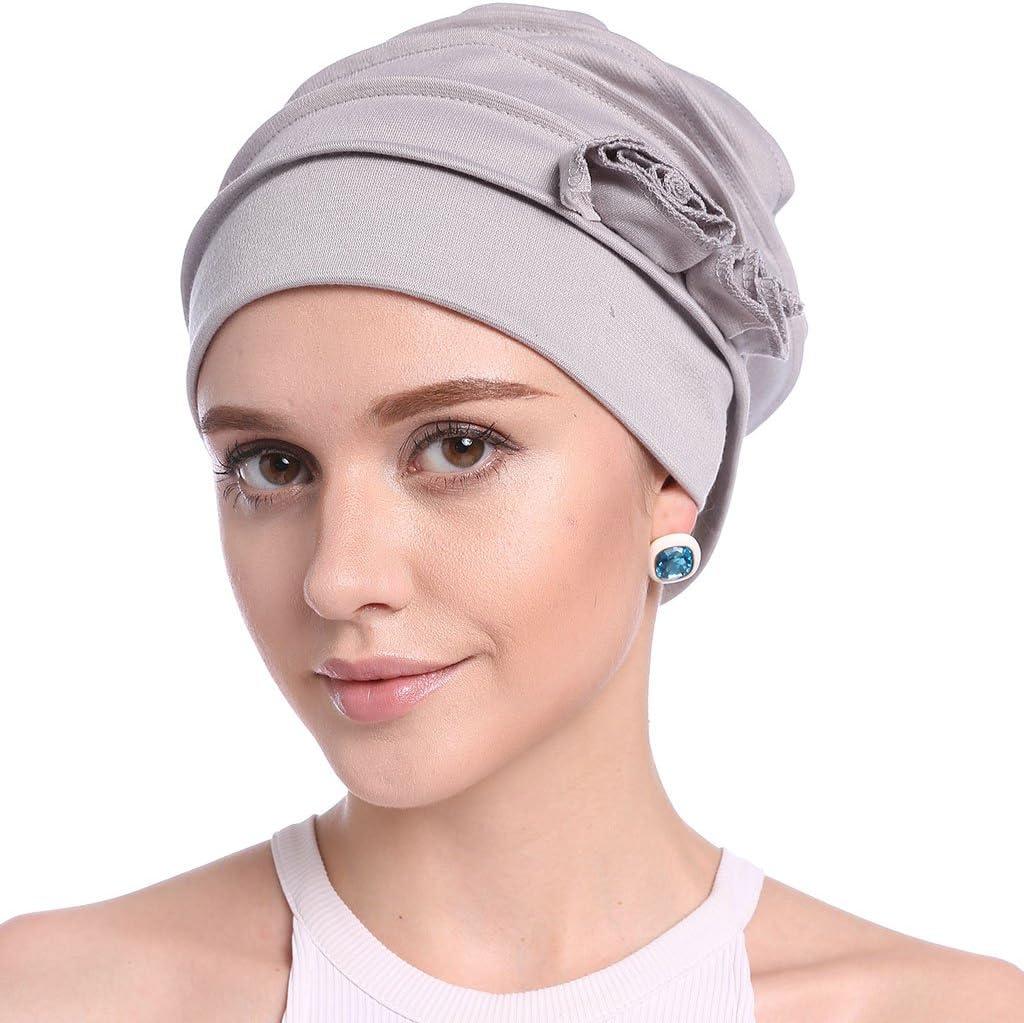 Faguo Femmes /à Volants Chimio Turban Bandeau /écharpe Bonnet Chapeau pour Patient canc/éreux