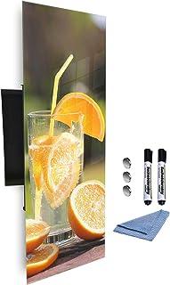 Armoire à clés 80x30 cm avec panneau magnétique en verre impression numérique fond 657733102