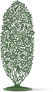 Willow Tree, Tree Silhouette, Pierced-metal Hand-painted Backdrop