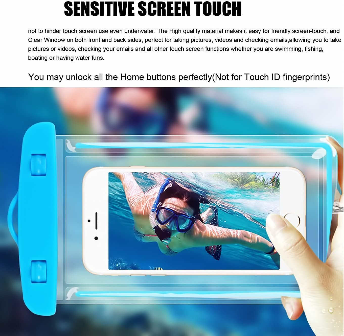s8plus etc.Pouch for Phone up to 5.8 inches 2Pack Blue+1Pack Pink ...