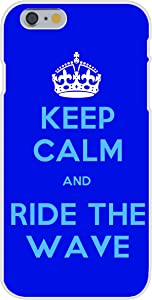 Apple iPhone 6 Custom Case White Plastic Snap On - Keep Calm and Ride The Wave Surfing Reference