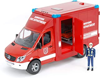 Bruder 02539 MB Sprinter Paramedic with Fireman, Integrated Light & Sound Module