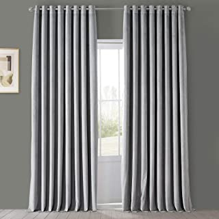 HPD Half Price Drapes Grommet Signature Blackout Velvet Curtain Extra Wide 100 X 84 (1 Panel), VPCH-VET1213-84-GR, Silver ...