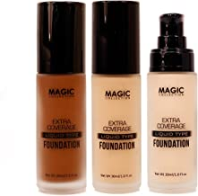 Magic Collection Extra Coverage Liquid Type Foundation 16 Colors Available 1oz (FAC514-Hazelnet)