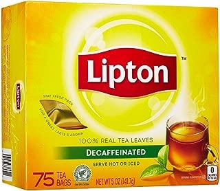 Lipton Black Tea Bags, Decaf, 72 ct