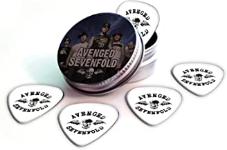 Avenged Sevenfold Set of 5 Logo Guitar Plectrums in Tin