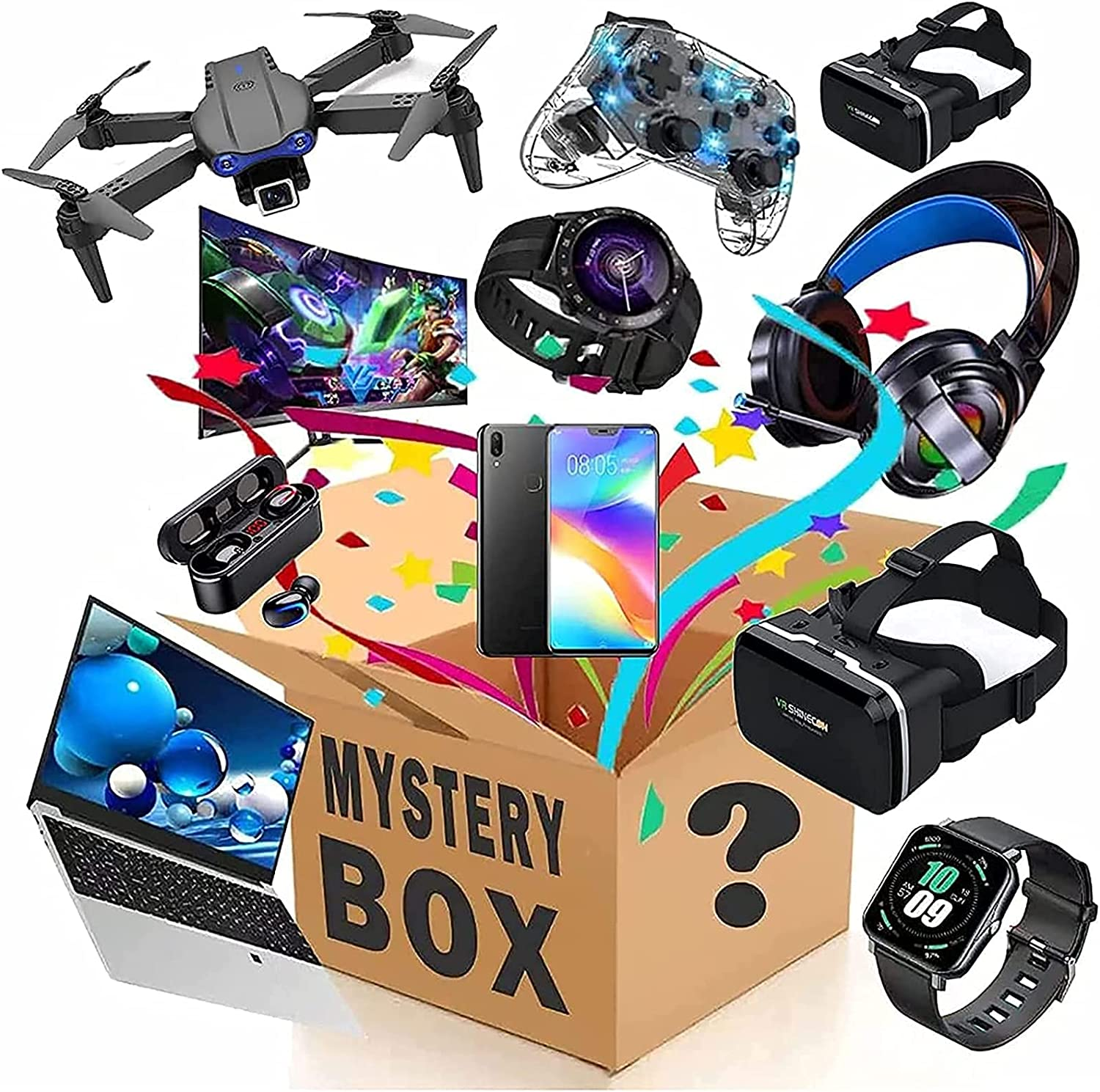 Mystery Box Electronic Lucky Inventory cleanup selling sale Max 84% OFF Coste Super Boxes Blind
