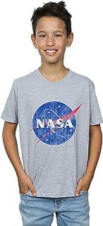 Absolute Cult NASA Niños Classic Insignia Logo Distressed Camiseta