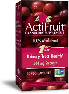 Enzymatic Therapy ActiFruitCranberry Supplement 100% Whole Fruit 500 mg One per day, 30 Count