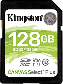 キングストン SDXCカード128GB 最大100MB/s Class10 UHS-I U3 V30 Canvas Select Plus SDS2/128GB 永久保証