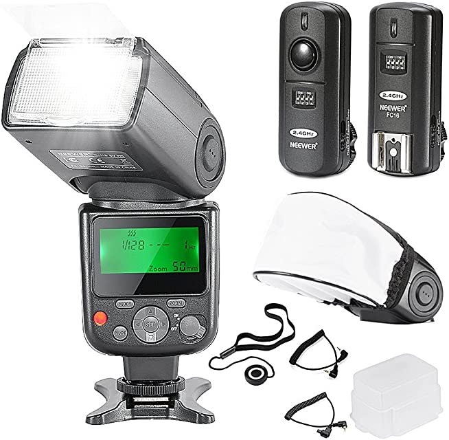 Neewer NW-670 TTL 10081788 Flash Speedlite con Kit de pantalla LCD para Cámaras Réflex Digitales Canon