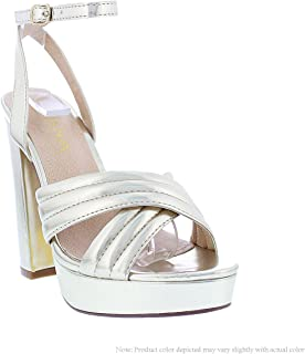a92865e4fb2 Liliana Shoes Women s Criss Cross Strappy Heels ALGAN 2