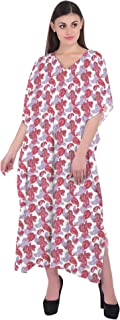 RADANYA Paisley Women's Cotton Kaftans Beachwear Bikini Cover Up Dress Caftan