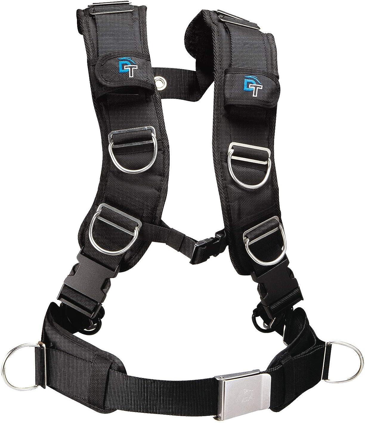 砂の堤防バウンドDolphin Tech By IST Deluxe Strap Tech BCD Padded Harness Webbing by IST
