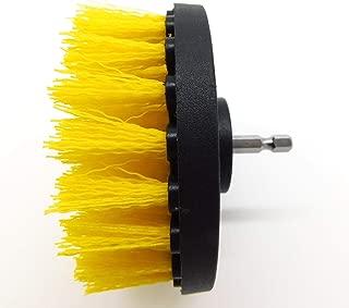 AWTOK Yellow Drill Brush Scrub Brush Carpet Brush with Quick Change Shaft