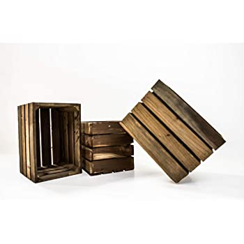 Ideal como Decoraci/ón Tres Tama/ños Diferentes Madera Natural TU TENDENCIA /ÚNICA Juego de 3 Cajas de Madera Vintage Modelo New York