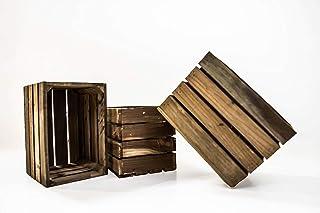 Set de 3 Cajas de Fruta Sam, Cajas de Fruta, Madera, Marrón