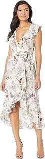 Donna Morgan Women's Printed Chiffon Wrap Dress