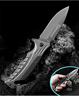 Color Titanium Steel Folding Knife Wild Survival Multi-Purpose Hunting Knife Self-Defense Folding Knife Outdoors