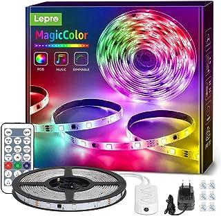 RGBIC LED Strip 5M, Lepro 150 LEDs Streifen Dreamcolor, Lichterkette MagicColor, Musik Band mit Fernbedienung, Lichtband W...