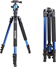 ZOMEi Q555 Lightweight Professional Alluminum Alloy Camera Tripod with 360 Degree Ball Head + 1/4