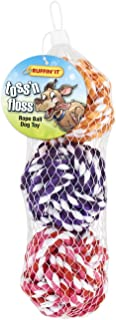 Ruffin' It 3-Pack Toss 'N Floss Rope Ball in Mesh Bag for Pets