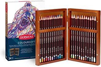 Derwent Colored Pencils,Drawing, Art, Gift Set Gift Box 24 Count Colorsoft